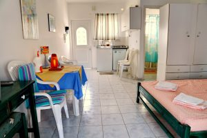 Eretria Beach Apartments - Studio Living Room - Kitchenette